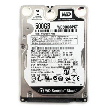 Ổ cứng HDD laptop 500Gb 7200rpm WD Black WD5000LPLX